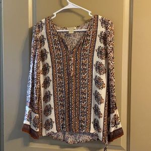 Lucky brand top with side tie detail